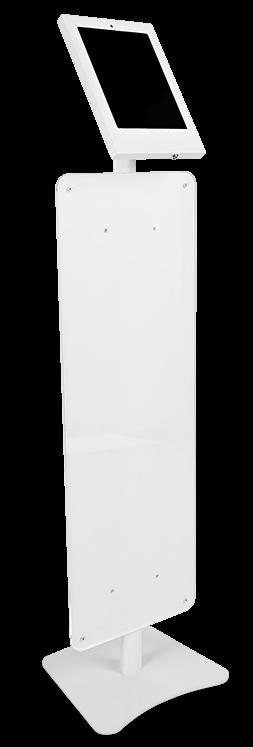 iPad-teline lattiamalli mainoslevyllä